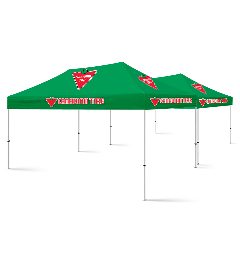 20x20 Custom Printed Canopy Tent Packages