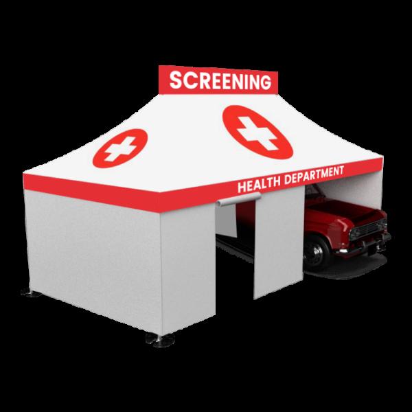 13×26 Enclosed Drive-Thru Screening Tent