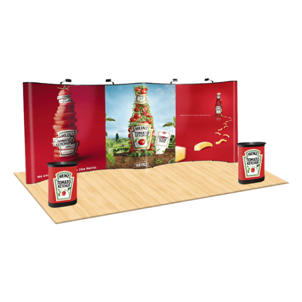 20ft Curved Pop Up Display