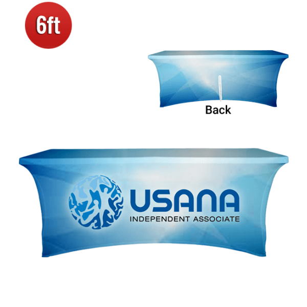 trade show tablecloth with logo