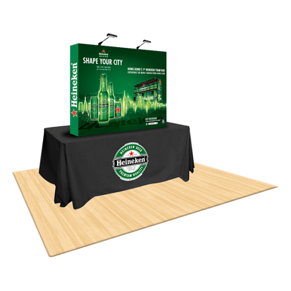 6ft Straight Table Top Fabric Display