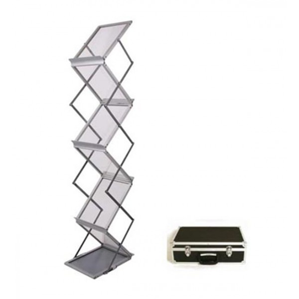 Zig Zag Brochure Stand With Heavy Duty Case