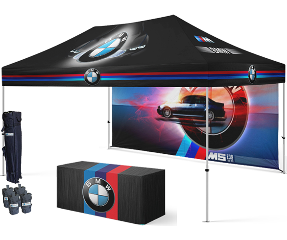 Custom printed canopy tents with graphics